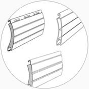 Profile rolety zewnętrznej wykonane z lakierowanej blachy