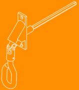 Napęd ręczny korbowy do rolety aluminiowej.