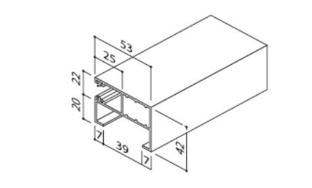 Prowadnica F- HTF 20 do rolety zewnętrznej