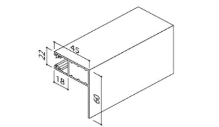 Prowadnica LHF do rolety zewnętrznej
