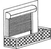 Rolety zewnętrzne przed drzwiami balkonowymi