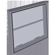 Moskitiera zwijana - okna